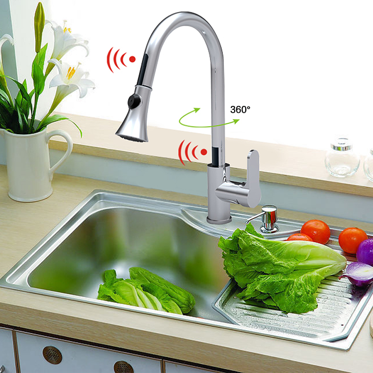 Double Sensor Kitchen Faucet+ Double Sensor Control Box